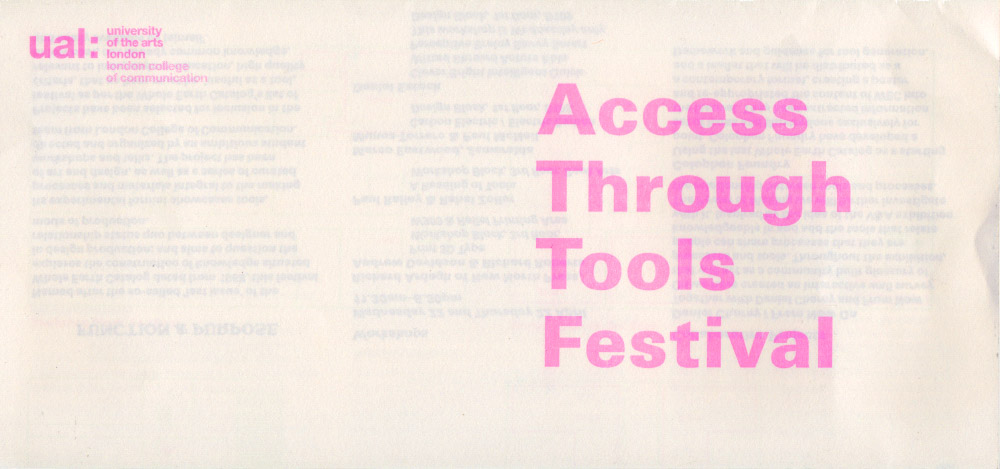 Thumbnail for Access Through Tools Festival